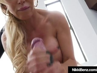 Benz deep throat Ever! Nikki Benz gargles pink cigar point of view!