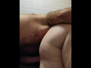 Wifey gets slurped while deep throating my lollipop