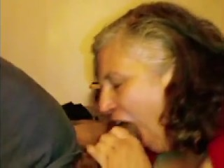Married Granny pissing and Face Fucked