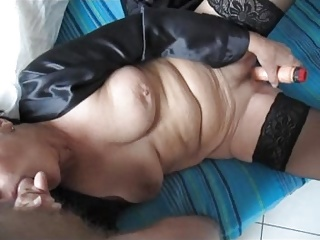 61 yo blowjob and dildo