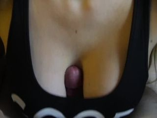 Inexperienced titfuck and popshot in sports brassiere