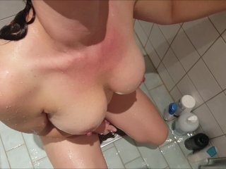 Swedish Milf gets first golden shower on massive tits - preview